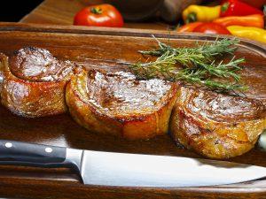 Picanha, traditional Brazilian barbecue. Cateringservice Churrasco